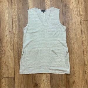 The Limited Boxy Cream Dress Front Pockets Sz M